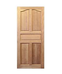 CHALET ประตู 5 ฟักปีกนก ขนาด 80x200 ซม. Red wood น้ำตาล