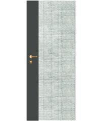 LEOWOOD ประตูปิดผิวเมลามีน ขนาด 80x200ซม. สีเงิน-เทา iDoor S7-04