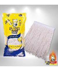 SUPERCAT อะไหล่ผ้าม็อบถูพื้น  10 นิ้ว  300 g. แมวยืน