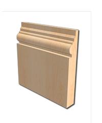 Masterdoors บัวพื้น ขนาด  5/8 นิ้ว  M.1406 5/8 x 4 x 2.5 m. น้ำตาล