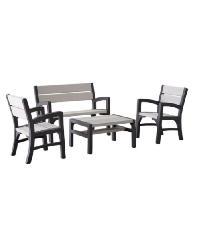 - ชุดโต๊ะสนาม 4ที่นั่ง Hannah  JHA-093