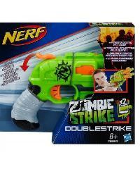 NERF ปืนของเล่น ชุด Double Strike  A8761 สีเขียว