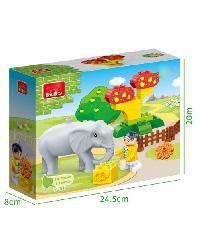 BANBAO ของเล่นบล็อกตัวต่อชุดใหญ่ Elephant 9566