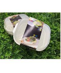 GOME กล่องพลาสติกเข้าไมโครเวฟ 20.5X26.5X9.8 Cm SP0356 สีขาว