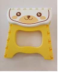 UCHI เก้าอี้พับลายการ์ตูน24.5*19.5*20cm KJB057-YE สีเหลือง