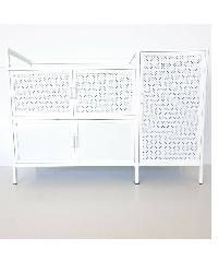 CROWN ตู้อเนกประสงค์ในห้องครัว 117x42x82ซม. PQS-9201 KTAC9201 สีขาว