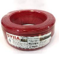 SYLLA สายไฟ 60227 IEC01 THW 1x2.5 Sq.mm.100m. สีแดง