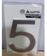 Sane ตัวเลขสเตนเลสแบบเรียบ 5 SS-DN05