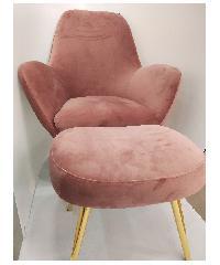 Divano เก้าอี้พักผ่อนพร้อมเก้าอี้รอง WK-W09037#PK สีชมพู