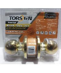 TORSTEN ลูกบิดประตูสเตนเลส 304 6พิน จาน75มม. KLSS-75PB6 สีทอง