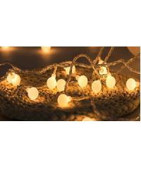 EILON โคมไฟนางฟ้าสำหรับเทศกาลตกแต่งของวันคริสมาสต์ KCASA 10M 100 LED สายไฟ 110-220V LED สีเหลือง