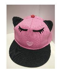USUPSO หมวกเด็กแมวน้อย - สีชมพู